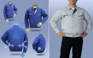Quần áo bảo hộ gắn quạt